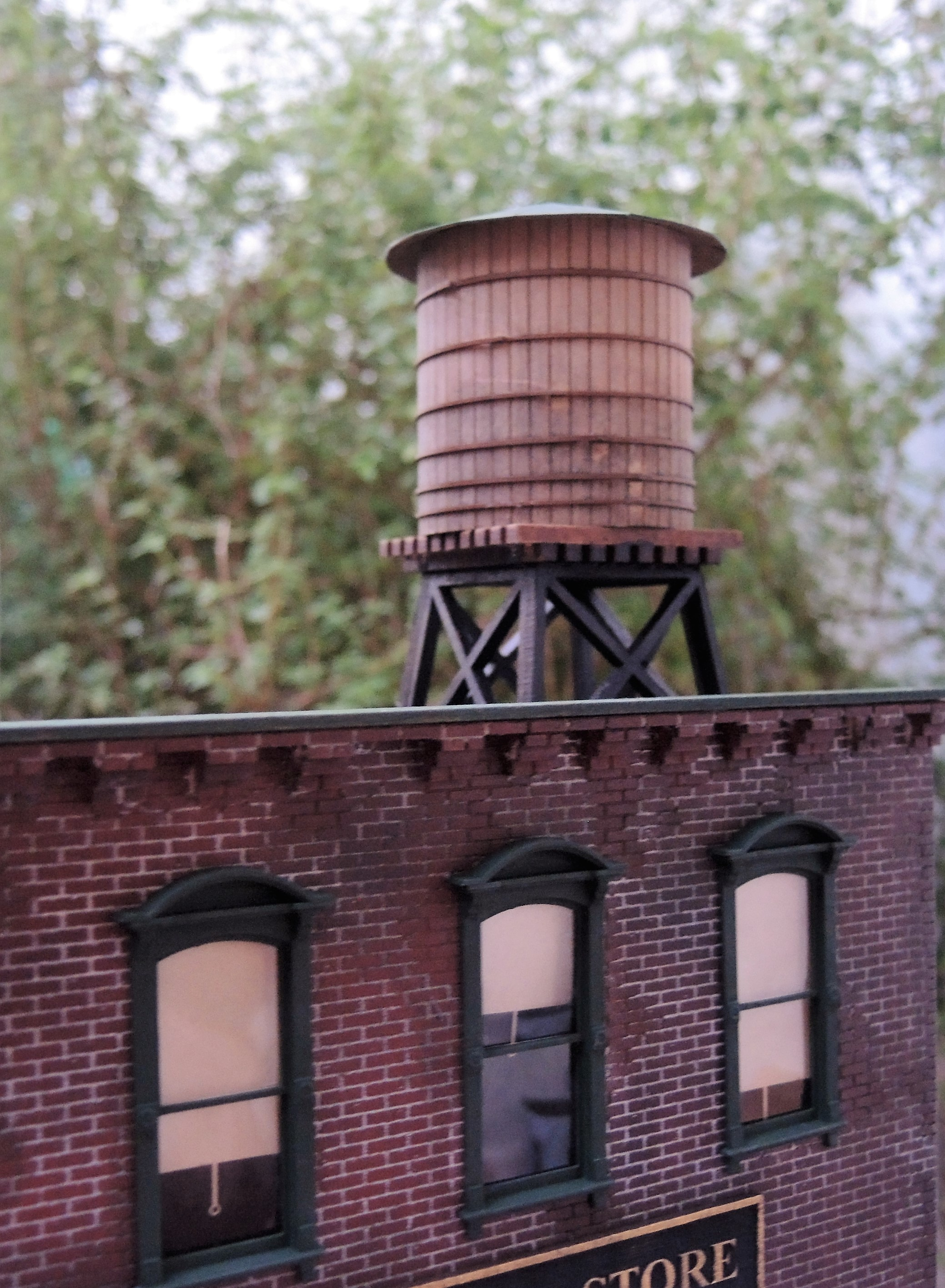Roof Top Water Tank River Leaf Models